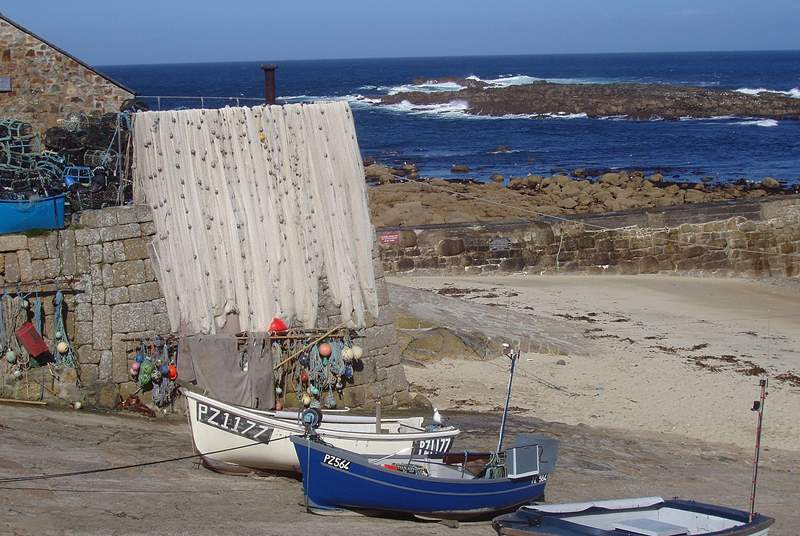 Sennen harbour is 50 yards from the house.