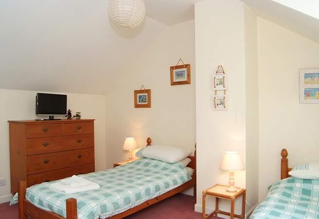The bedroom on the top floor is the perfect hideaway (Bedroom 3).