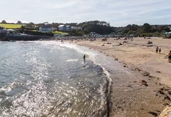 Swanpool beach is just along from Gyllyngvase.