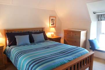 Bedroom 1 is furnished with a double bed.