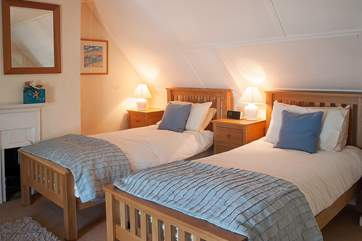 The twin room (Bedroom 2) is very spacious and shares those wonderful sea views.