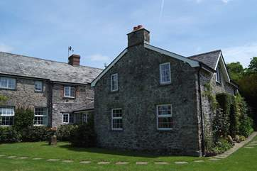 The rear of the Owners' house, Forda Hayloft is on the right.