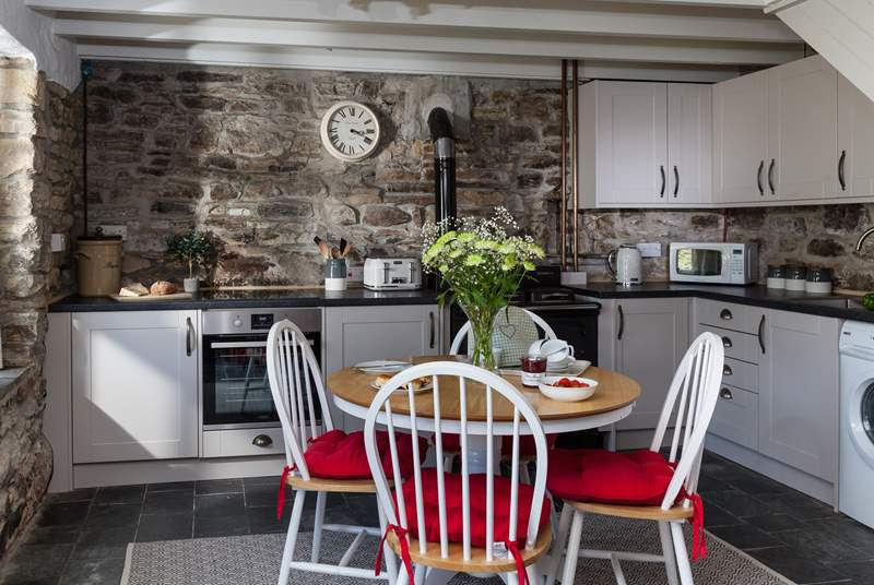 The kitchen is beautiful and has a Belfast sink.