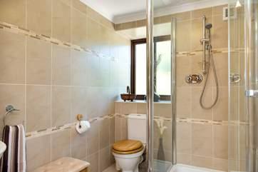 The ensuite shower room for bedroom 2