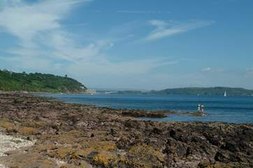 Looking from Kingsand towards Fort Picklecombe on the horizon.