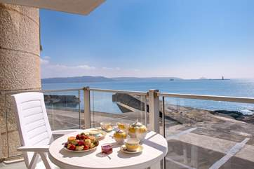 Treat yourself to cream tea whilst you take in that view