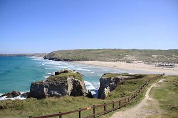 Perranporth beach is just a mile away.