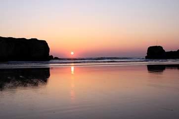 Sunset on Chapel Rock.