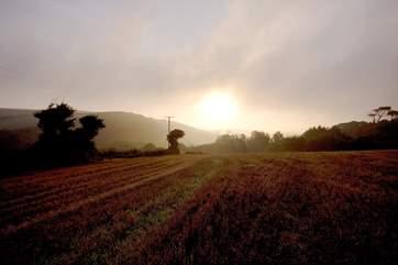 Dawn over Bolingey.