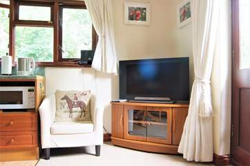A nice big TV for watching your favourite programmes.