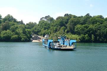 The King Harry ferry near Truro crosses the River Fal to the Roseland peninsula.
