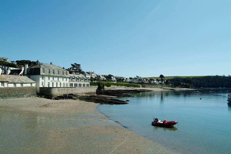 The Idle Rocks Hotel in St Mawes has a fabulous waterside terrace, perfect for morning coffee or lunch.