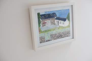 A former guest painted this lovely picture of the cottage.