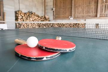 Table-tennis is available in the open barn.