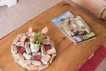 Plenty of local magazines to read.