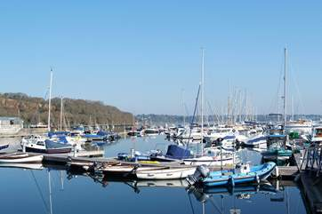 Mylor Yacht Harbour is close to the cottage, a scenic destination for a cycle ride or walk.