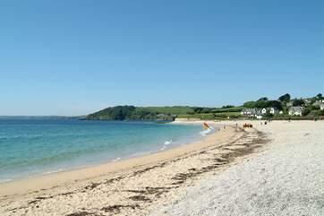 Gyllyngvase beach in Falmouth - a short drive away.