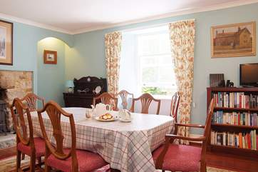 The dining-room is perfect for leisurely family meals.