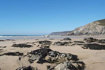 Porthtowan beach is lifeguard protected from Easter to October.