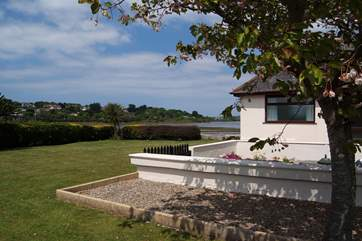 The cottage has fabulous views across the Hayle River.