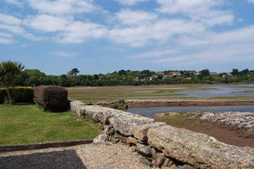 A view from the garden to the Hayle River.