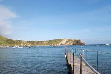 This is the natural harbour at Lulworth Cove - a great family day out.