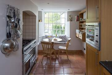 The kitchen has a range cooker and large fridge and freezer for all those holiday treats.