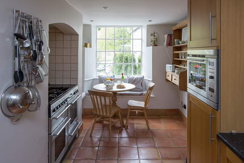 The kitchen has a range cooker and a fridge/freezer for all those holiday treats.