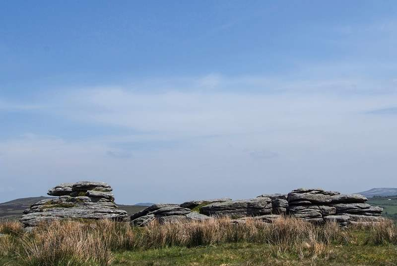 Fantastic walks are to be had on nearby Dartmoor - this is one of the many tors to be found in the National Park.