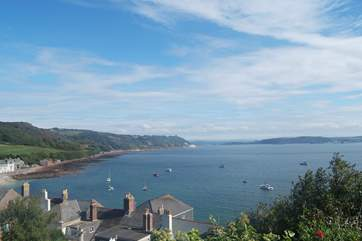 The view over Kingsand and Cawsand, on the eastern side of the Rame Peninsula.