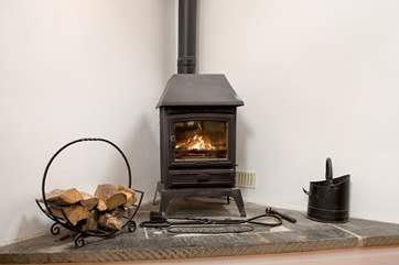 The toasty wood-burner makes this an ideal retreat all year round.