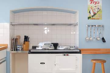 The Aga has been converted to electricity and runs off solar power, a very green form of energy.