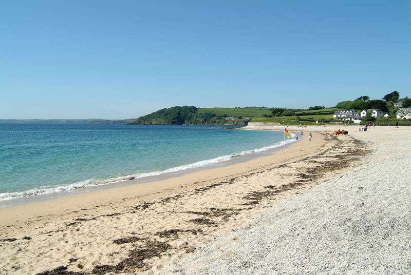 Gyllyngvase beach in Falmouth is popular with families.