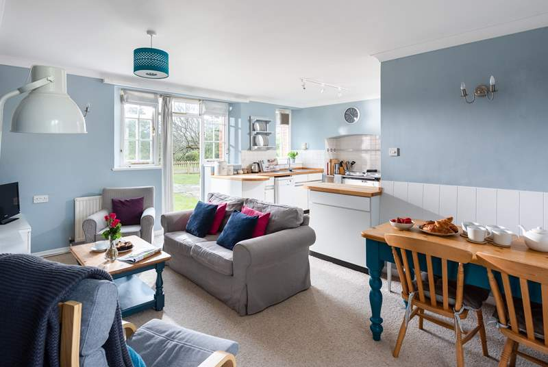 The cosy open plan living space.