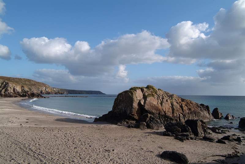 Nearby Kennack Sands beach is ideal for families.