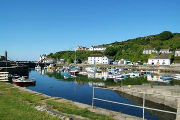 Porthleven's pretty harbour is a just short drive away.