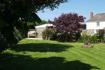 Tretharrup has a large and beautifully maintained private garden.