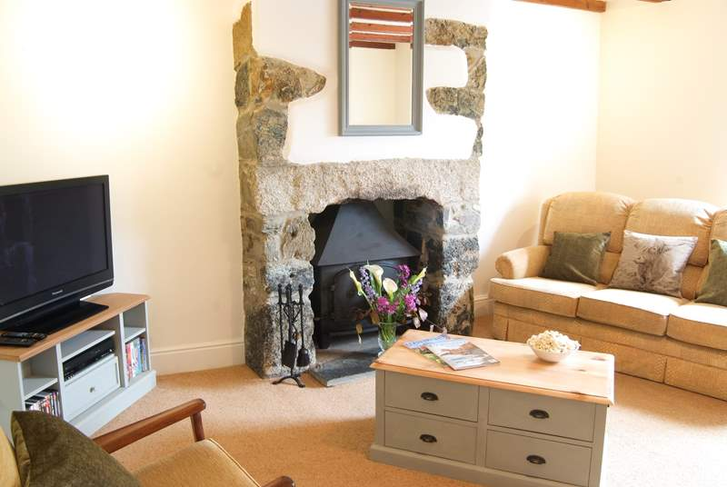 Sit and plan your next days activities with Superfast broadband in the comfy sitting-room and throughout the farmhouse.