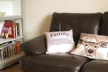 There is a comfy sofa, books, games and a TV and DVD player so kids can watch cartoons whilst the grown ups enjoy something a little more relaxing in the sitting-room.