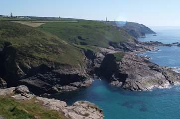 The coastline.