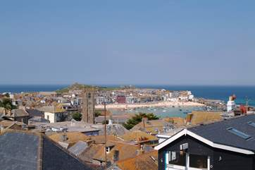 St Ives is just six miles distant.