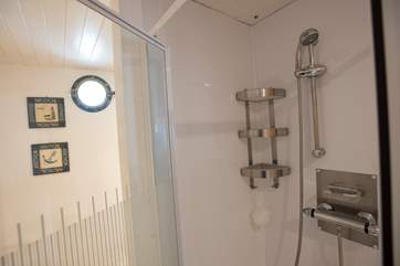 The shower in the ground floor shower-room.