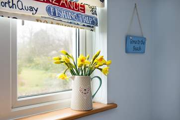 All the bedrooms has lovely countryside views.