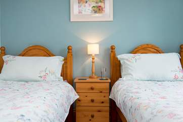 The twin bedded room.