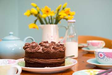 A delicious homemade cake will be waiting for your arrival - yum yum!