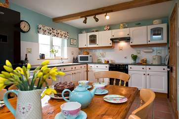 The kitchen/diner is a great place for all to gather.
