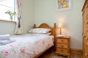 Bedroom 1 is situated on the ground floor.