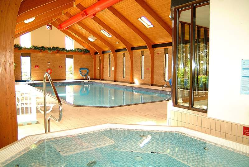 The heated indoor swimming pool is a short walk away.