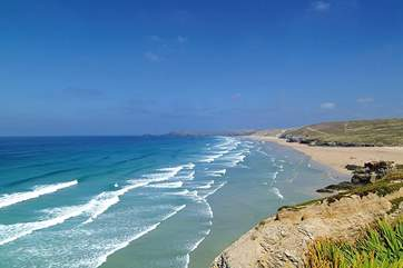 Perranporth beach is just a few miles further up the coast from Porthtowan.