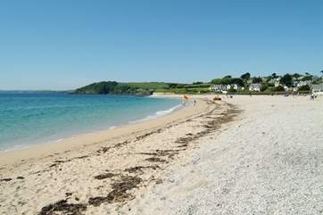 Gyllyngvase beach in Falmouth is only five miles away.